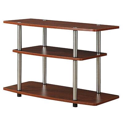 3 Tier Shelf Media Storage (Brown 3 Tier TV Stand 32in Flat Panel Media Storage Display Shelf Living Room  )