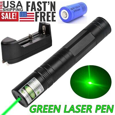 900miles Handheld Green Light Laser Pointer Pen 532nm Rechargeable 1 Mw Lazer Us