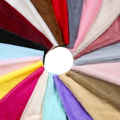 Faux Fur Fabric Material, Soft Cuddly Luxury Handle, 25 Plain Colours, Neotrims