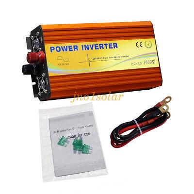 1KW Off Grid Inverter Pure Sine Wave 5V USB Interface 24V To 220V MPPT Founction