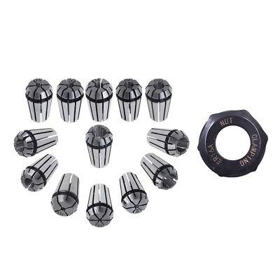 12pcs Er16 Spring Collet Set Er16 A Type Collet Clamping Nut Fitfor Cnc Milling