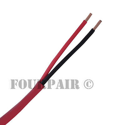 182 Fire Alarm Audio Wire Cable 2 Conductor 18 Awg Fplr Riser - Red - 1000ft