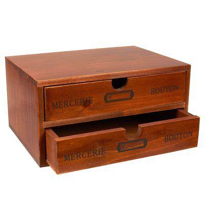 2 Drawer File Cabinet Filing Office Storage Furniture Brown Wood 2drawer -