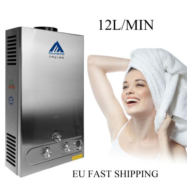 12L LPG 2800Pa PROPANE Tankless Water Heater 24KW 3.2GPM Bath Shower Head 9.5KG