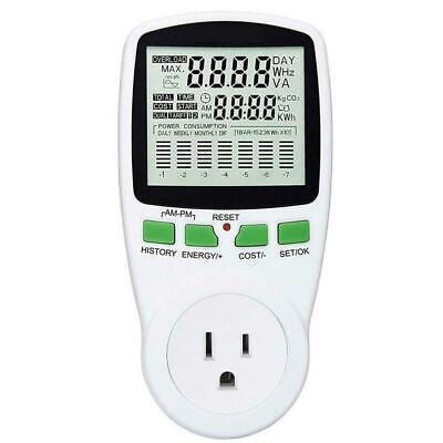 Digital Wattmeter Ac Power Meter Us Outlet Energy Meter Watt Monitor Analyzer