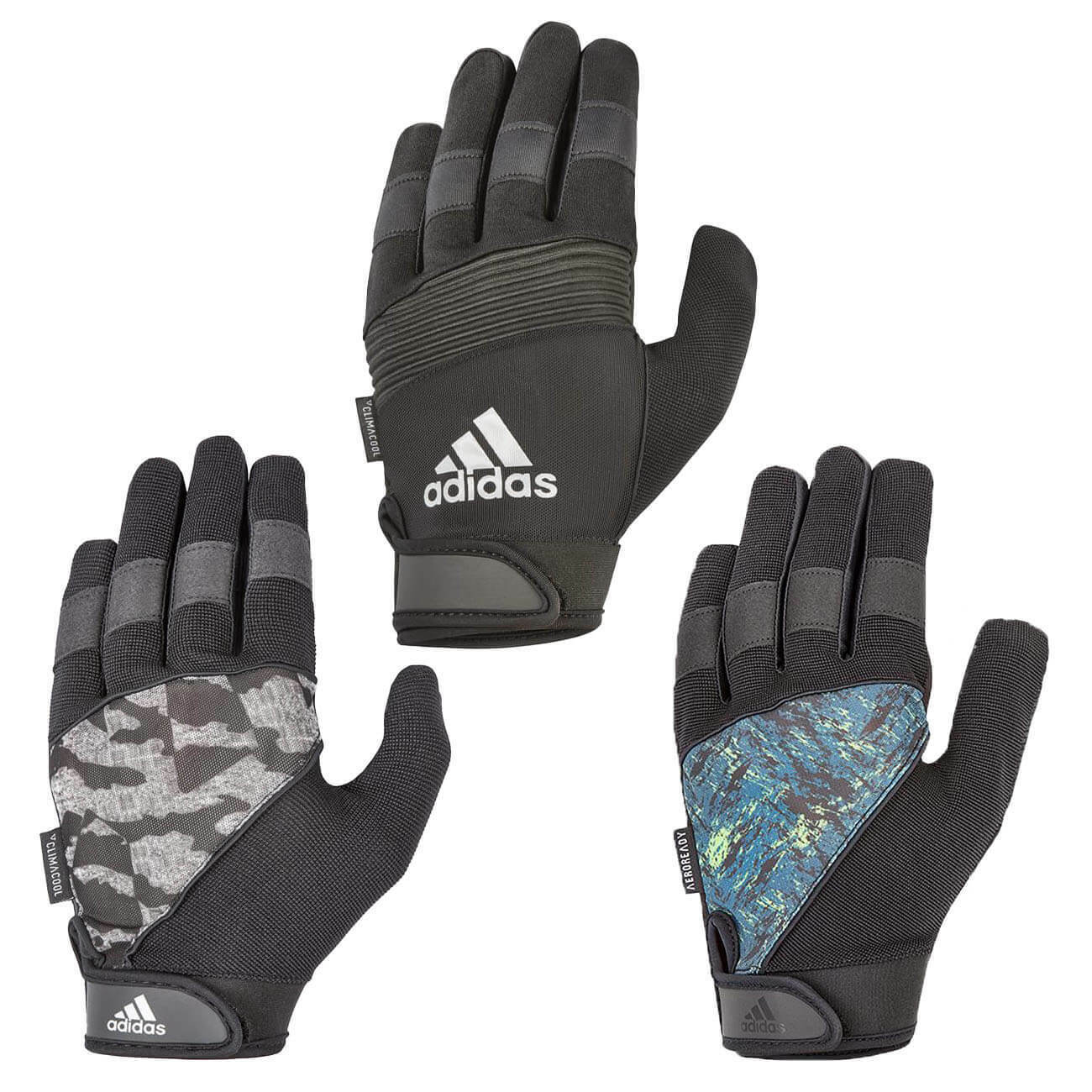 violencia tifón Mendicidad  Adidas Full Finger Performance Weight Lifting Gloves Gym Bodybuilding  Workout   eBay