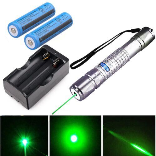 20Mile 5mw 532nm Green Laser Pointer Pen Interactive Pet Cat Dog+Batt+Charger