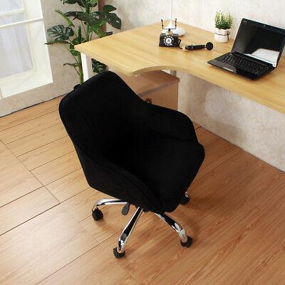 Office Modern Executive Chair Task Desk Adjustable Swivel Height Velvet Black