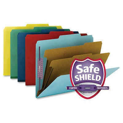 10 Pk Smead 19025 Assorted Colored Classification Folders, Legal Size 2 Dividers