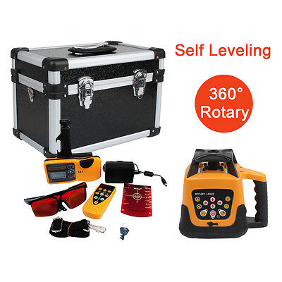 500m Range Auto Self Leveling Rotary Rotating Laser Level Red Beam W Case