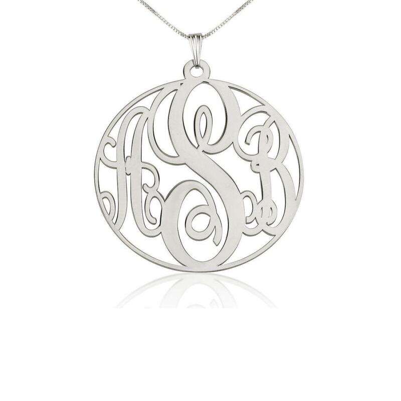Silver initial pendant ebay aloadofball Image collections
