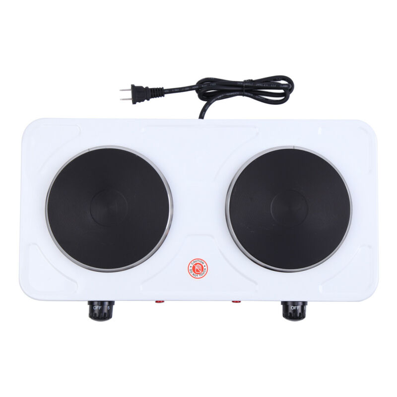 2000W Electric Double Burner Hot Plate Heating Portable Kitc