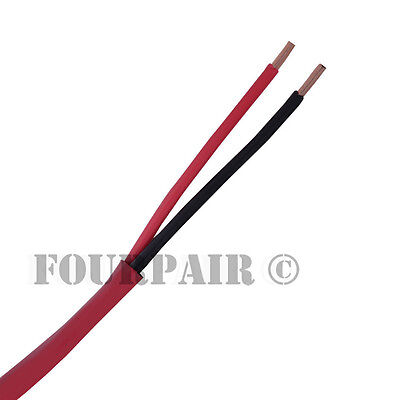 182 Fire Alarm Wire Cable 2 Conductor 18 Awg Shielded Fplr Riser - Red - 1000ft