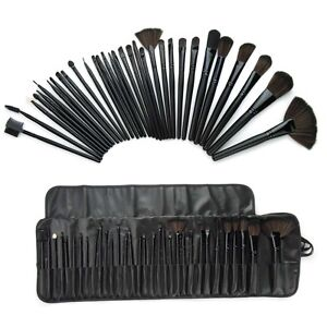 Pro Makeup Brushes Eyebrow Professional Eyeshadow Makeup Brush Set 32 + Kit Case