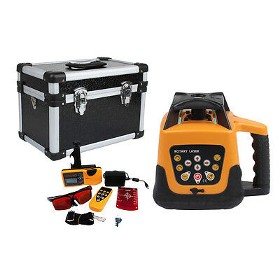 Fully Automatic Self-leveling Red Beam Rotary Laser Level Kit Wremote Control