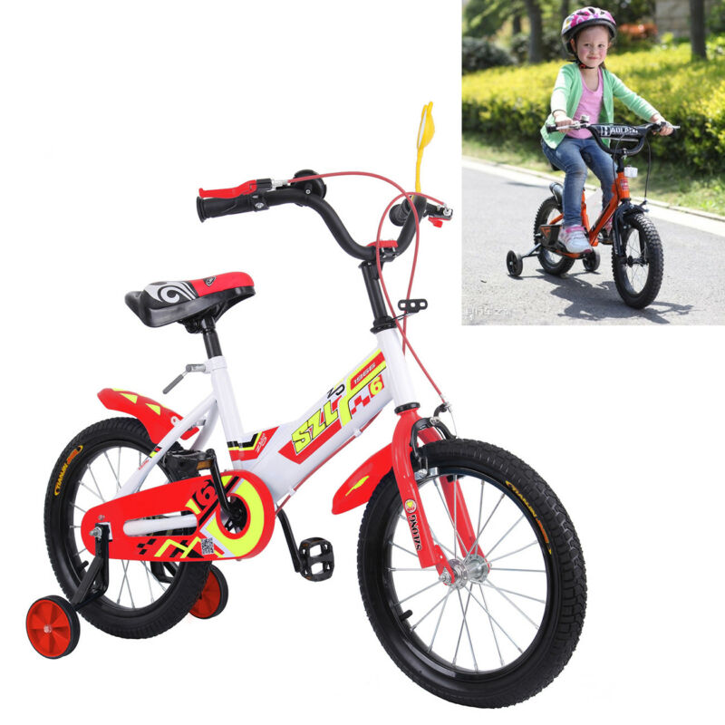 Kinderfahrräder Kinderfahrrad 16 Zoll Mädchen Jungen Kinder Fahrrad Rad Bike Rot