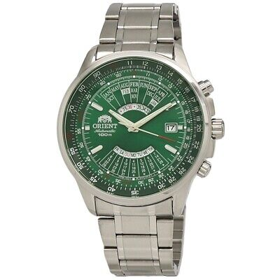 Orient Perpetual Calendar FEU07007FX Green Dial Stainless Steel Men's Watch