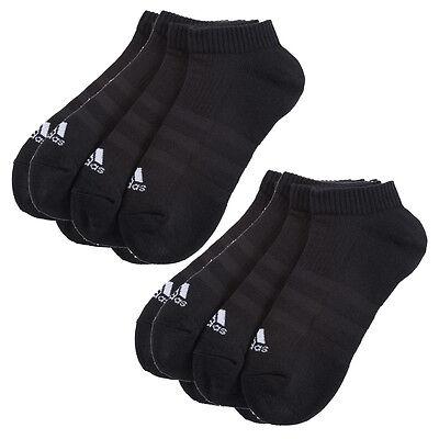 Paar Low Cut Sock (6 Paar ADIDAS NoShow Sneaker Socken schwarz 39-46 NEU 6er Pack Füßlinge Low Cut)
