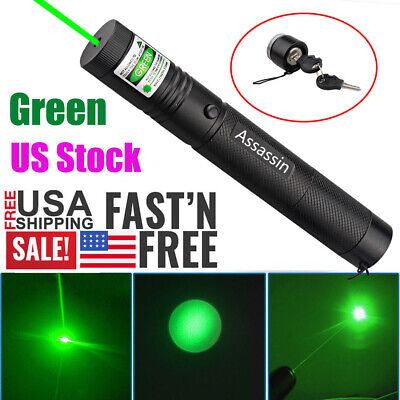 900 Miles 532nm Green Laser Pointer Pen Visible Beam 18650 Lazer Focuszoom New