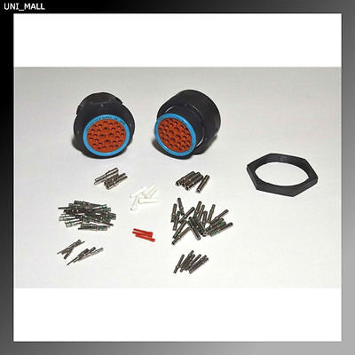 Deutsch HDP20 29-Pin Bulkhead Connector & RING kit, 12, 14 & 20 AWG Contacts