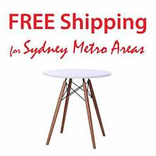 Clearance SALE - Eames Style Eiffel Wood Leg Table (dia 70cm) Zetland Inner Sydney Preview