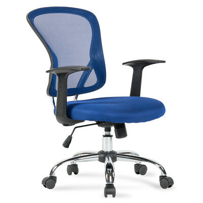 Ergonomic Mid-back Mesh Office Computer Chair Desk Task Executive Swivel Blue