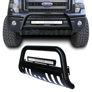 Black Bull Bar Bumper Grille Guard+126W Led Light for F-150 04-17/Expedition 03+