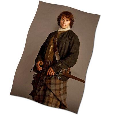 ner NEW Outlander Jamie Fraser Fabric Textile Poster (Sam Flag)