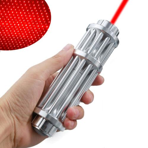 Military Red Laser Pointer Pen 650nm 1mW Burning High Power Beam Light+Star Cap