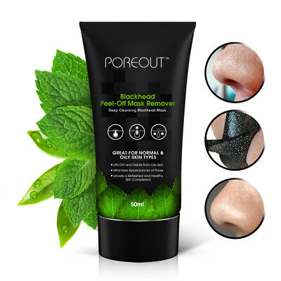 Blackhead Face Mask 50ml Peel-Off Cleansing Facial Black Charcoal Remover - UK