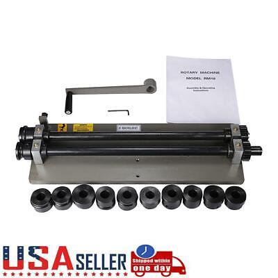Bead Roller Rolling Tool Sheet Metal Steel Gear Drive Rotary Machine w/6Dies Set