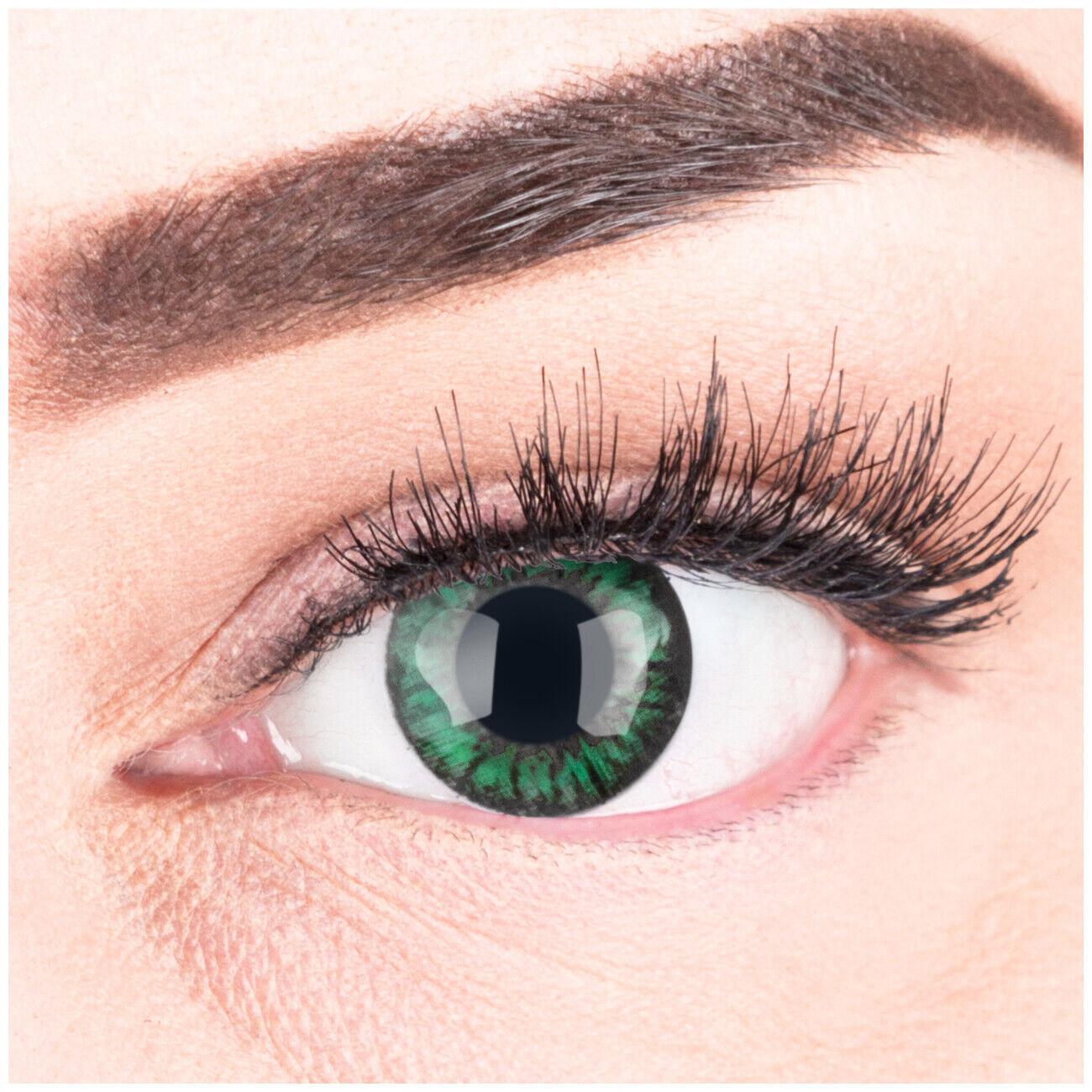 Farbige Kontaktlinsen mit ohne Stärke Big Eyes große Augen braun blau grün grau