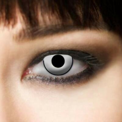 1 coppia,3 mesi, morbide, Halloween lenti a contatto, bianco Manson, vampiri