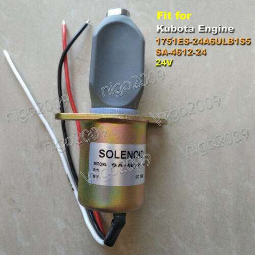 1751ES-24A6ULB1S5 24V Fuel Shutoff Stop Solenoid Valve Fit for Kubota Engines