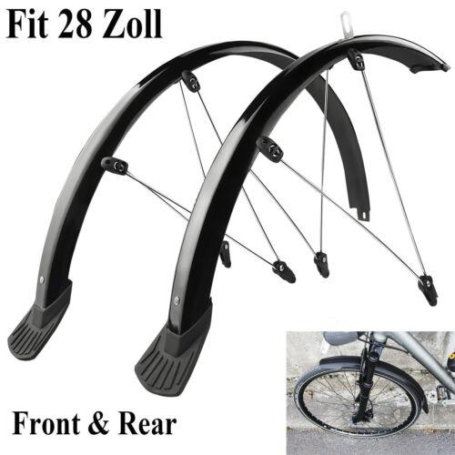 28 Zoll Fahrrad Schutzbleche Set Vorne Hinten MTB Bike Schutzblech 45mm Schwarz