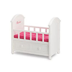 American Girl Bitty Baby's Crib for Dolls Crib Mattress Retired Bedding Sold Sep