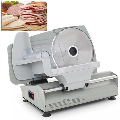 7.5 Electric Deli Meat Vegetable Slicer Home Kitchen Restaurant Stainless Steel
