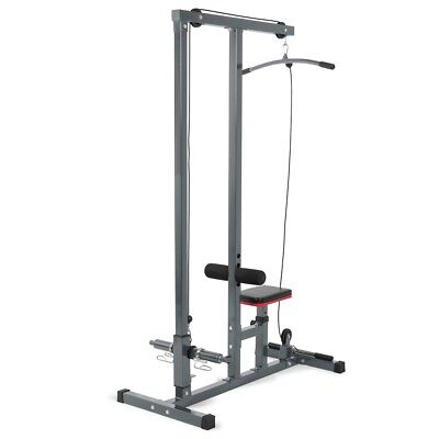 Multi Function Pro Lat Pulldown Machine W  Low Row Bar Cable Fitness Station Gym