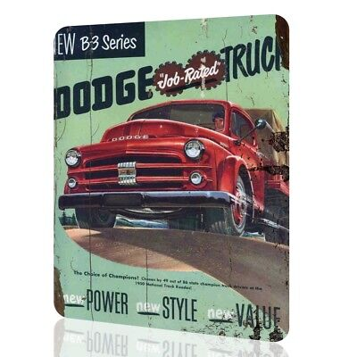 METAL SIGN Dodge Truck B3 Classic Drivers Garage Decor Vintage Cars Rusted Retro