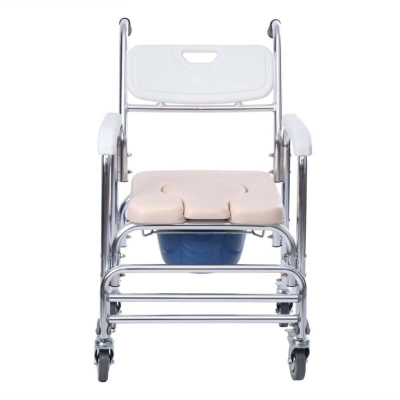 Transport Shower Bedside Commode Wheelchair Medical Toilet C