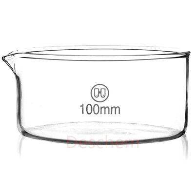 Deschem 100mm50mmglass Crystallizing Dishheavy Walllab Chemistry Glassware