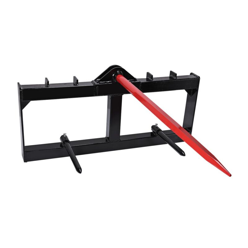 """49"""" Tractor Hay Spear Attachment for John Deere 3000 lb Capacity Front Loader"""