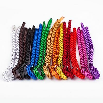 Roll Nylon Cord Necklace 5mm Twisted Satin Finish Polyester Jewelry Cord 1-100M ()