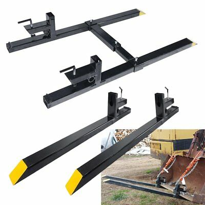 4360 Clamp On 1500 Lbs Capacity Pallet Forks Loader Bucket Skidsteer Tractor