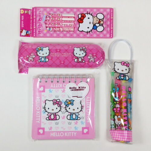 Sanrio Hello Kitty Stationery Set #1 Pencil Case Highlighter Memo Notepad A11