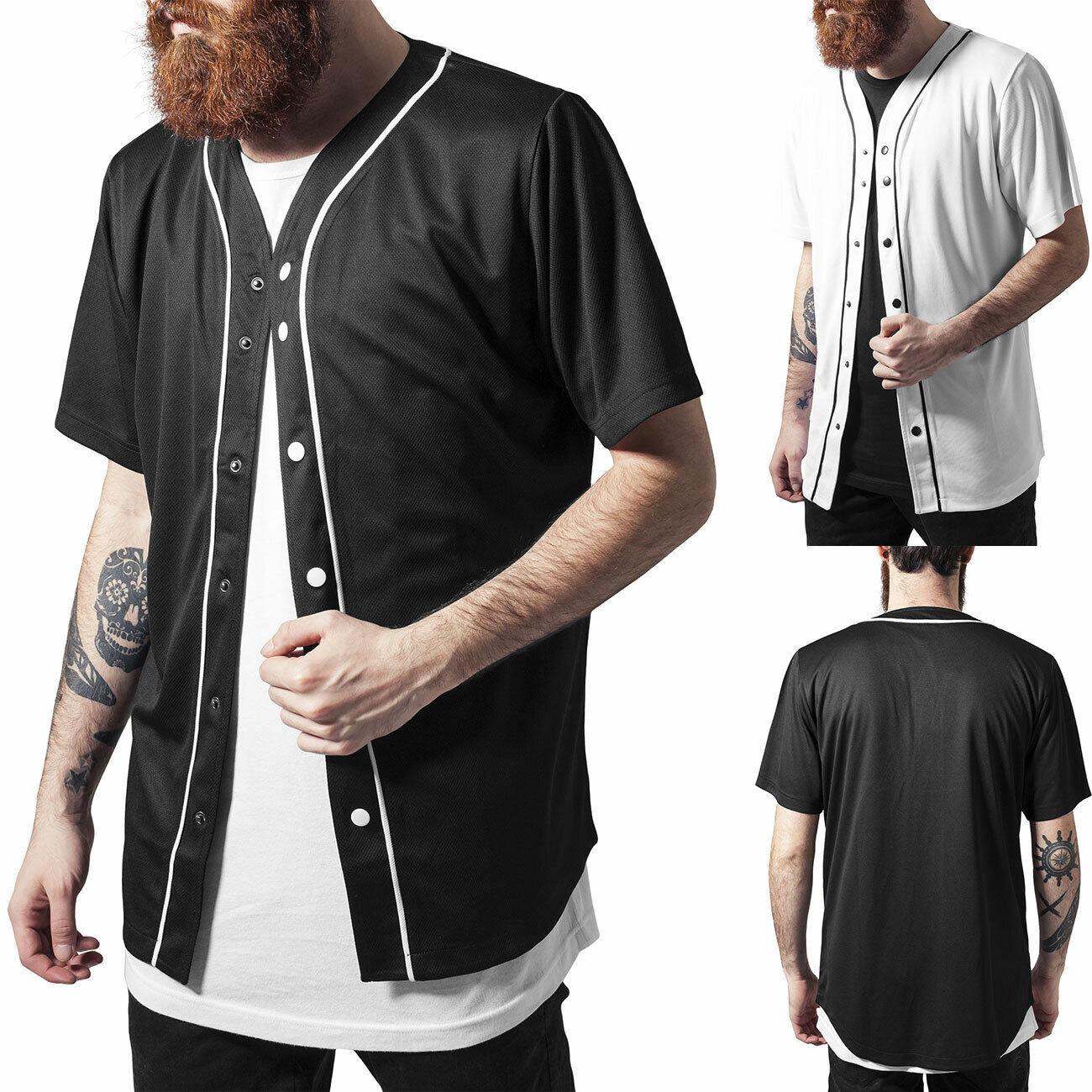 Urban Classics T-Shirt Baseball-Shirt Mesh Jersey Herren-Shirt 1237