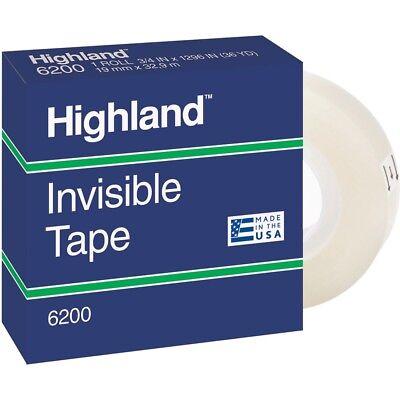 Highland Invisible Tape 1 Core 34x1296 12 Rollspk Clear 6200341296pk