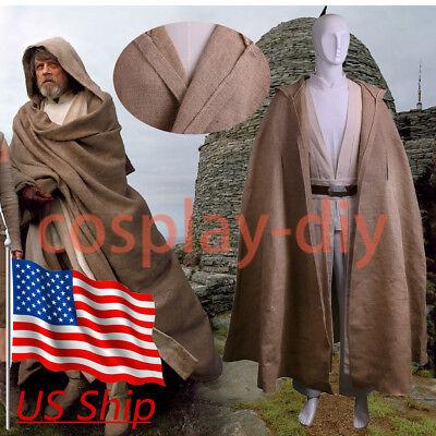Star Wars The Last Jedi Luke Skywalker Cosplay Halloween Full Set Costume New](Star Wars Costumes Luke Skywalker)