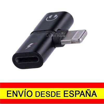 Adaptador 8 Pin Compatible iPhone Carga y Audio Auriculares Simultaneos a1779