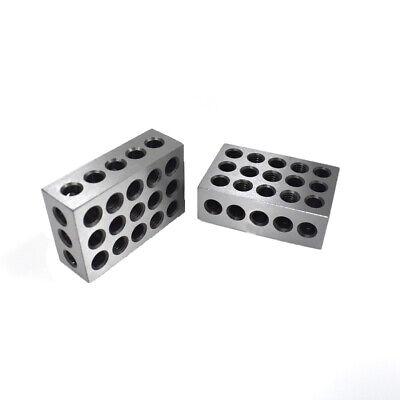 1-2-3 0.0002 Steel Block 23 Hole 2pc Set Block123-ls-12